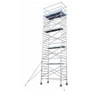 Andamio aluminio Torre PRO 135X250, altura de trabajo 12.2 m