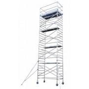 Andamio aluminio Torre PRO 135X250, altura de trabajo 10.2 m