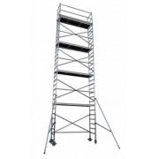 Andamio aluminio Torre PRO 75X250, altura de trabajo 10.2 m