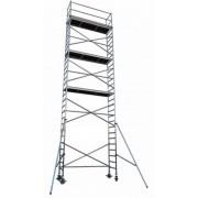 Andamio aluminio Torre PRO 75×190, altura de trabajo 10.2 m
