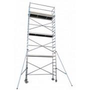 Andamio aluminio Torre PRO 75X250, altura de trabajo 8.2 m