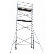 Andamio aluminio Torre PRO 75×190, altura de trabajo 8.2 m