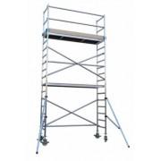 Andamio aluminio Torre PRO 75×250, altura de trabajo 6.2 m