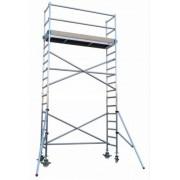 Andamio aluminio Torre PRO 75×190, altura de trabajo 6.2 m
